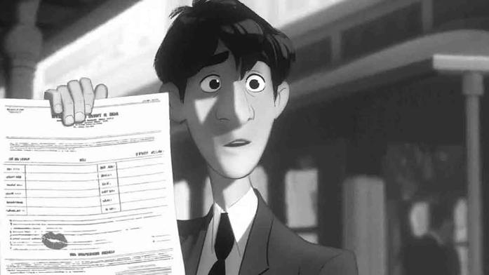 Figura 9.1 e 9.2 - clip tratte dal cortometraggio Paperman: dettaglio storygrammar .