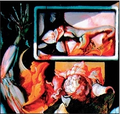 """Particolare da """"L'anatomista"""" di Hyman Bloom, 1953, New York, Whitney Museum of American Art. Moderna rappresentazio- ne dell'arte medica autoptica."""