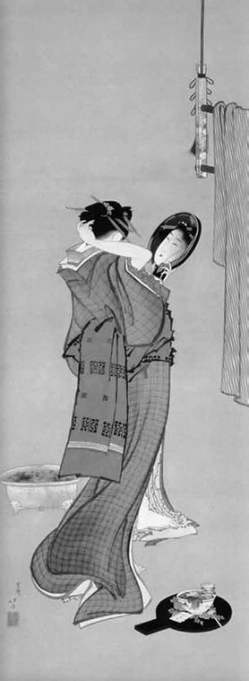 Figura 4.7 - K. Hokusai, Toèletta d'estate, 1808-1809.